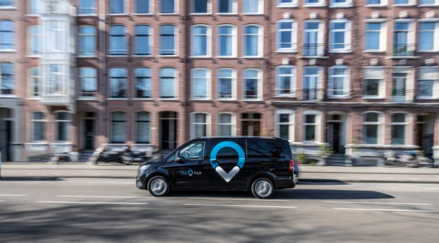 ViaVan launches app-based on-demand ridesharing service in Amsterdam.