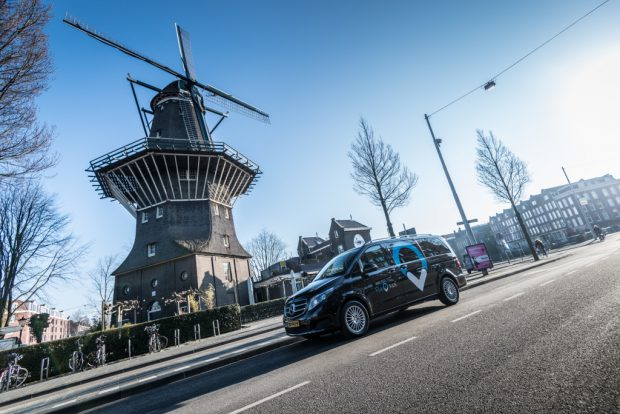ViaVan startet App-basierten On-Demand Ridesharing-Dienst in Amsterdam. ViaVan launches app-based on-demand ridesharing service in Amsterdam.