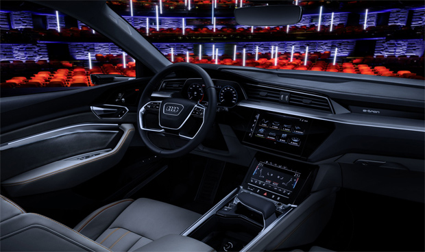 Audi präsentiert das Auto mit Entertainmenttechnologie auf der CES