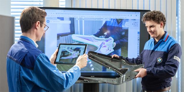 Berufsausbildung 4.0 bei BMW - VR-Brille am Ausbildungsplatz
