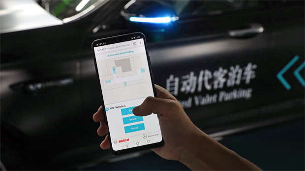 Daimler und Bosch zeigen Automated Valet Parking Technologie in China