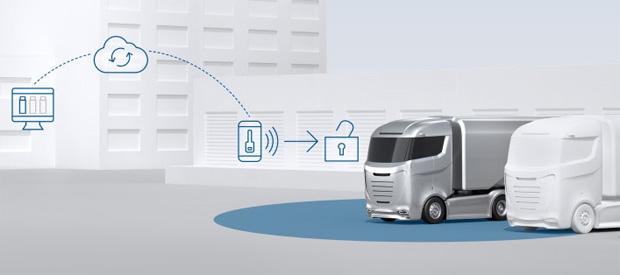 Bosch präsentiert App basiertes schlüsselloses Zugangssystem für Fuhrparks