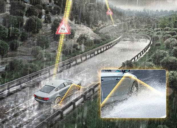 Continental erkennt Aquaplaning-Risiko