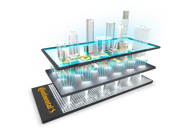 """Natural 3D Instrument Cluster"" - Continental und Leia bringen 3D-Display ins Fahrzeug"