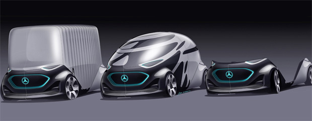 Mercedes-Benz Vans entwickelt modulares Mobilitätskonzept: Vision URBANETIC