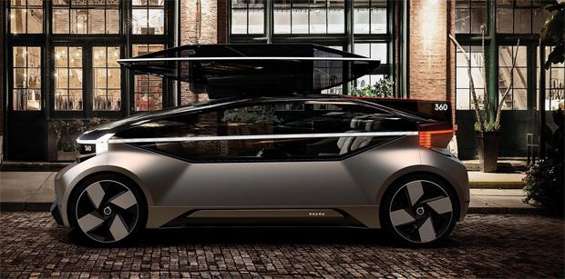 """EDAG entwarf Exterieur-Modells des Volvo Concept Car """"360c"""""""