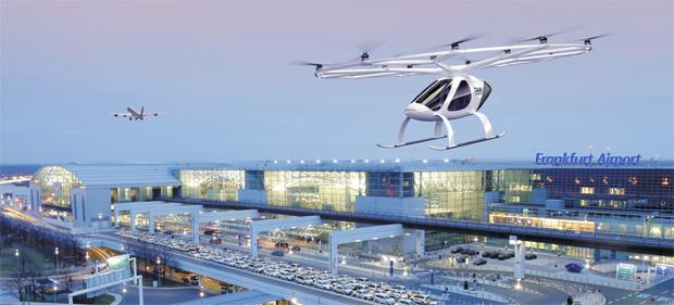 Fraport und Volocopter entwickeln Infrastruktur für Flugtaxis