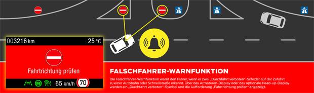 Ford Focus mit Falschfahrer-Warnfunktion