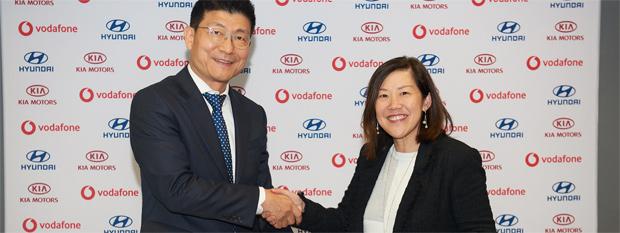 Strategische Partnerschaft zwischen Hyundai und Vodafone
