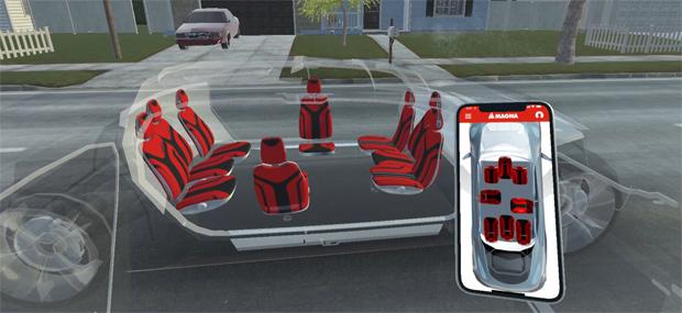 Magna entwickelt konfigurierbare Sitze