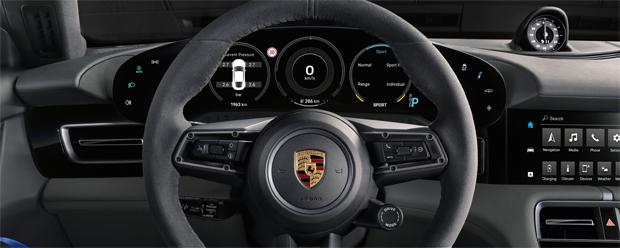 Das Interieur-Design des Porsche Taycan