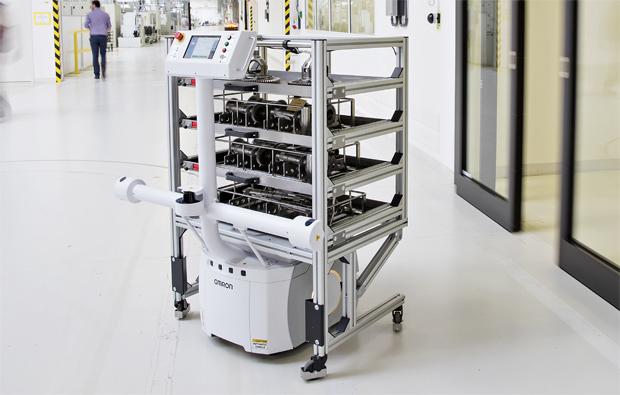 Einsatz von voll autonomen Transportroboter im Werk Vrchlabí von Škoda