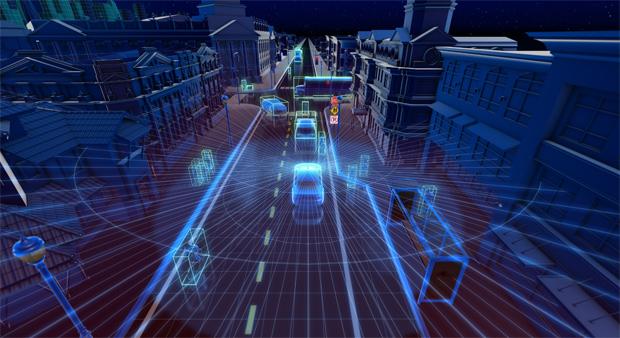 Intelligenz für Fahrzeugautonomie: Velodyne Lidarsensoren auf autonomer NVIDIA DRIVE™-Fahrplattform