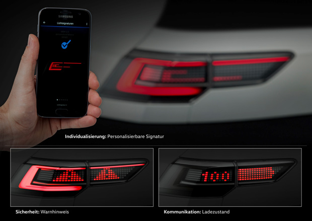 Volkswagen testet interaktive Scheinwerfer und Rückleuchten