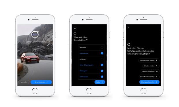 Mit der Volvo Car Protection Versicherungen per App buchen