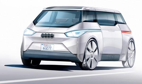 """Der vollautonome Audi City fährt ohne Lenkrad in beide Richtungen. Front und Heck sind gleich. Weiterer Text über ots und www.presseportal.de/nr/53065 / Die Verwendung dieses Bildes ist für redaktionelle Zwecke honorarfrei. Veröffentlichung bitte unter Quellenangabe: """"obs/AUTO BILD"""""""