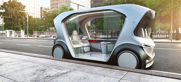 Bosch zeigt sich mit Konzeptfahrzeug und Services auf der CES